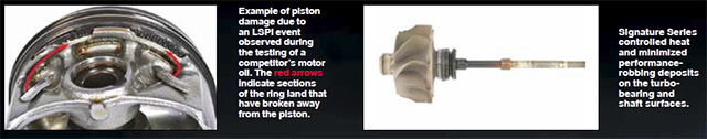 Piston damage and shaft wear